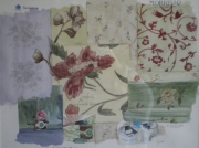 tableau fleurs tissus anglais papiers peints angla : British paints, fabrics and wallpapers